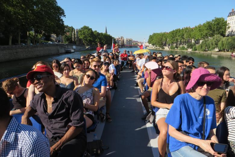École ILCF - Excursion en croisière à Lyon
