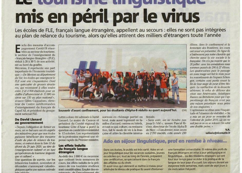 Article de Nice matin concernant la situation du fle