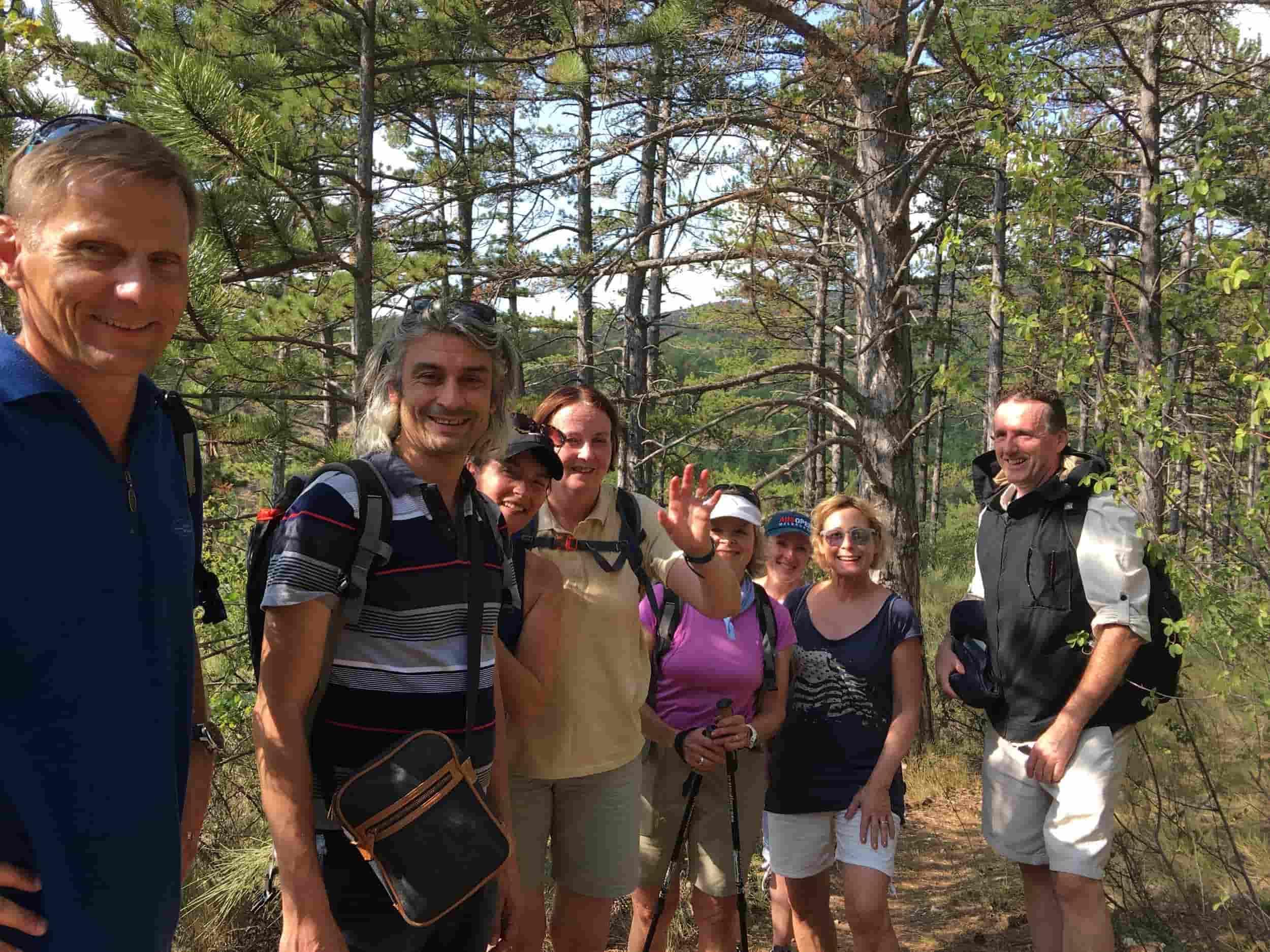 École CREA-Langues- Etudiants en randonnée
