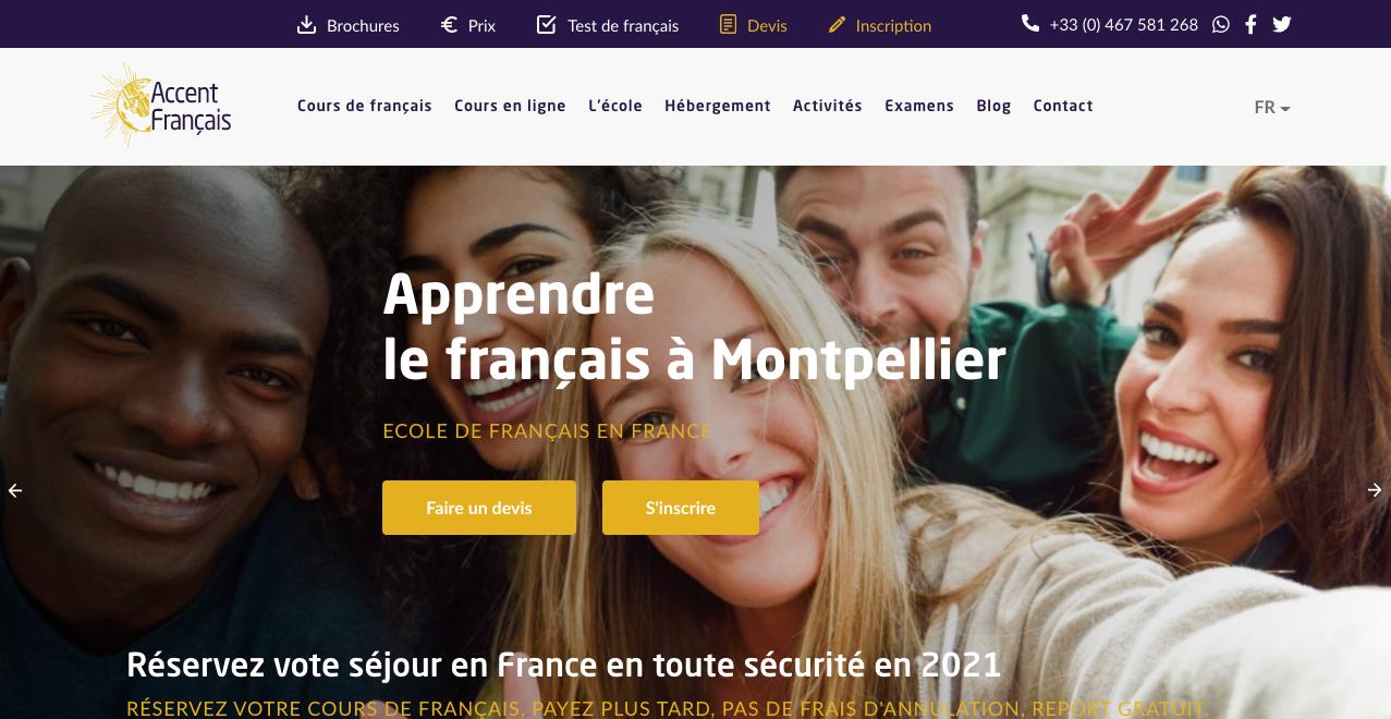 Nouveau site web Accent Français