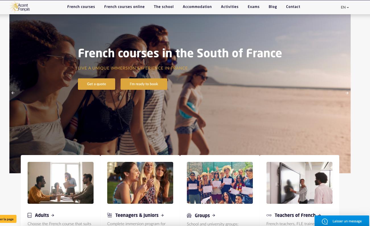 New site web Accent Français